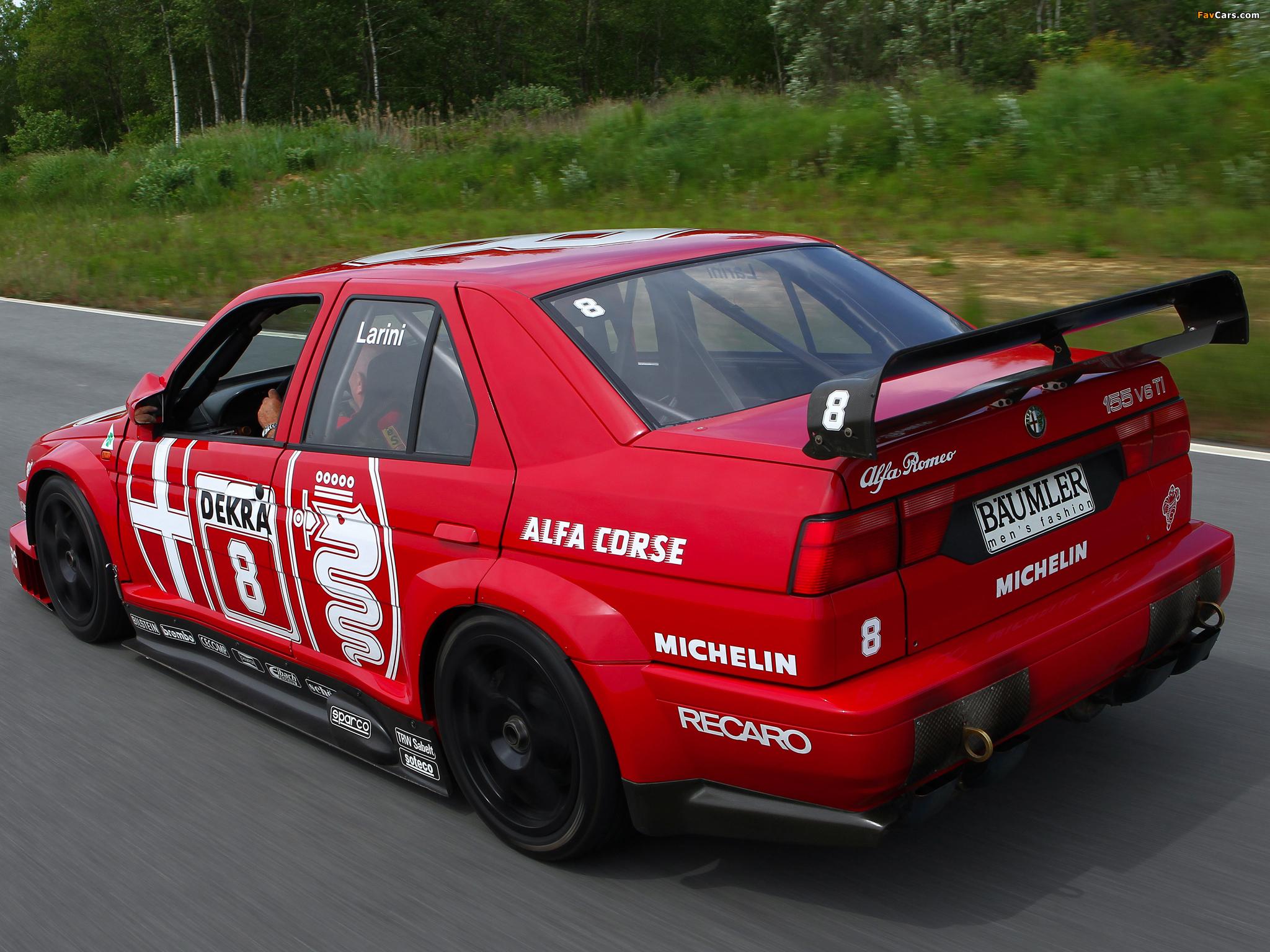 Alfa Romeo 155 2.5 V6 TI DTM SE052 (1993) pictures (2048 x 1536)