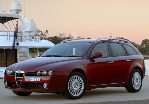 ... Alfa Romeo 159 Sportwagon 2.4 JTDm AU-spec 939B (2006–2008) photos