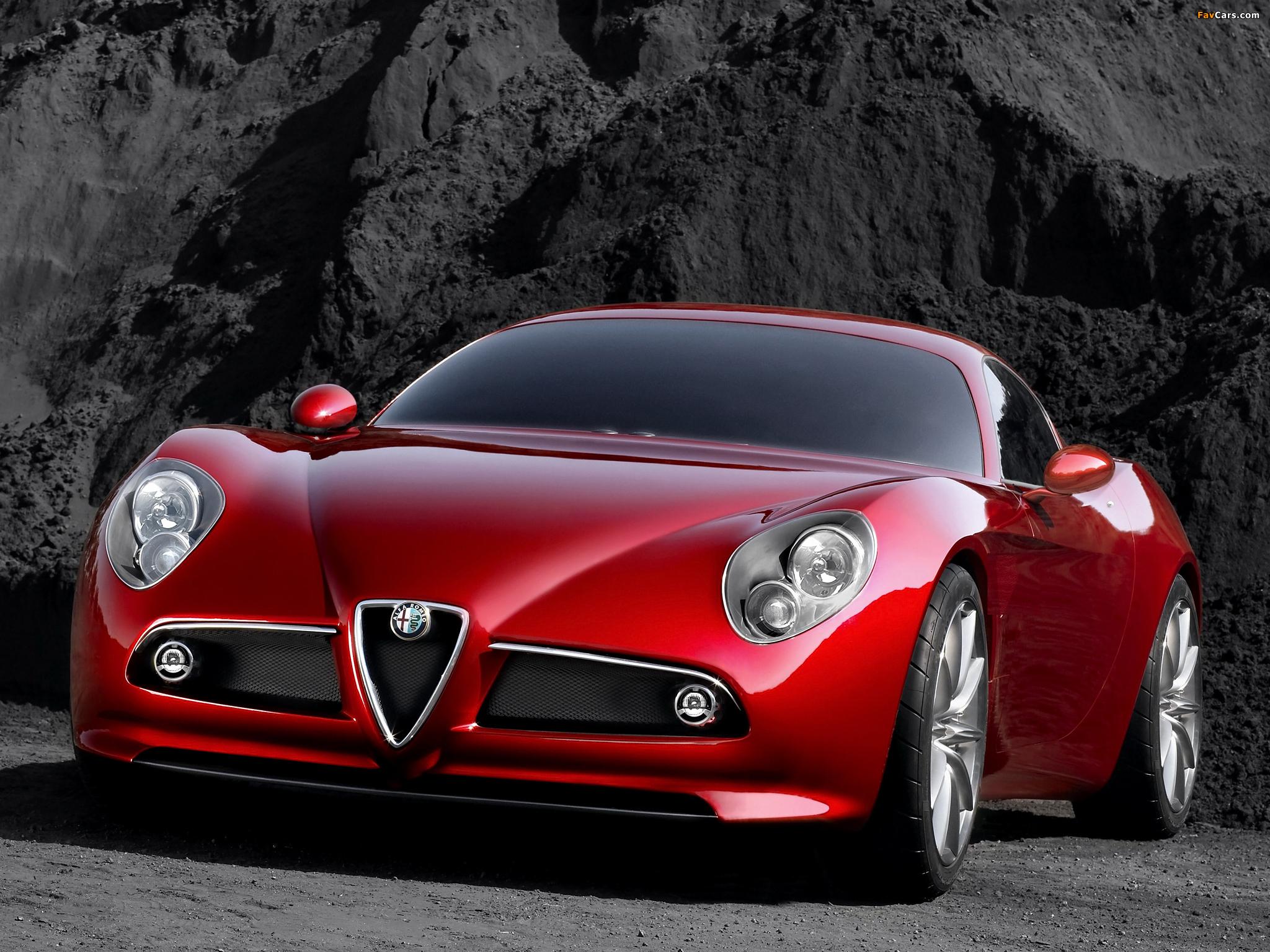 Alfa Romeo Бордовая  № 2426413  скачать