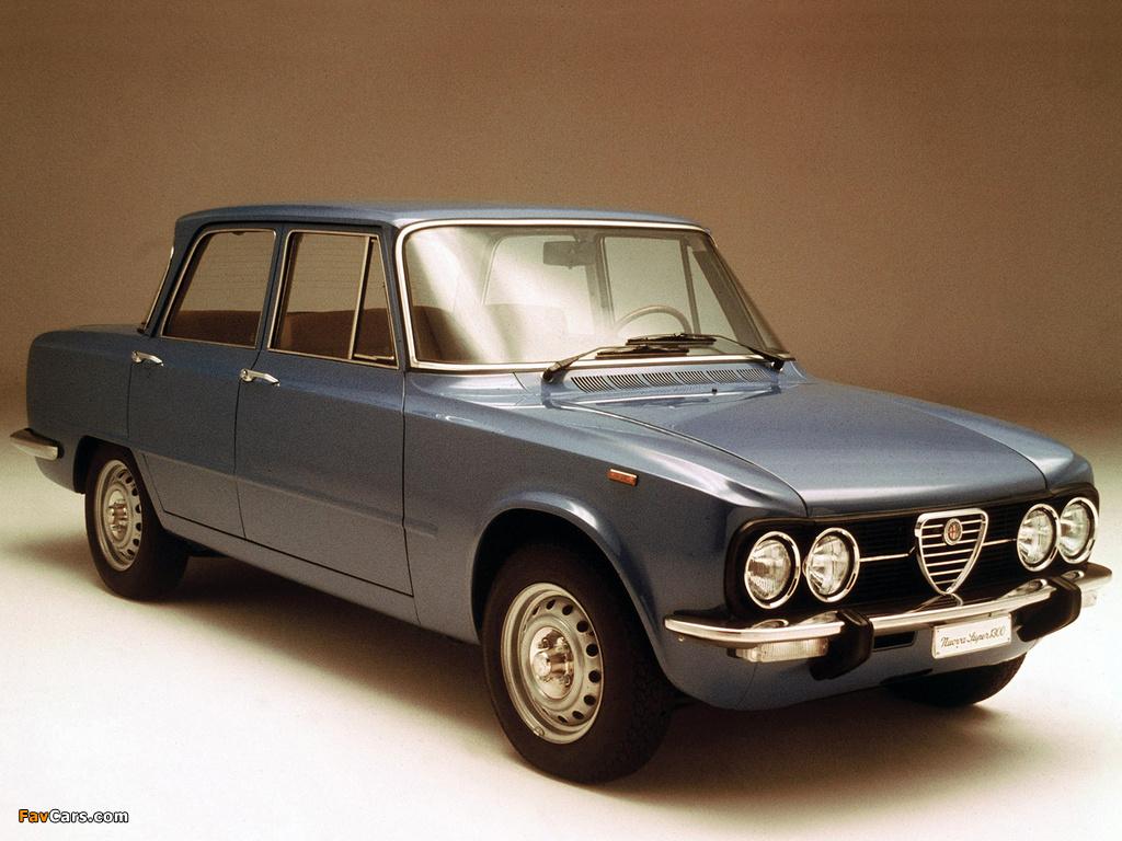 Alfa Romeo Giulia Super 1300 115 1974 1977 Wallpapers