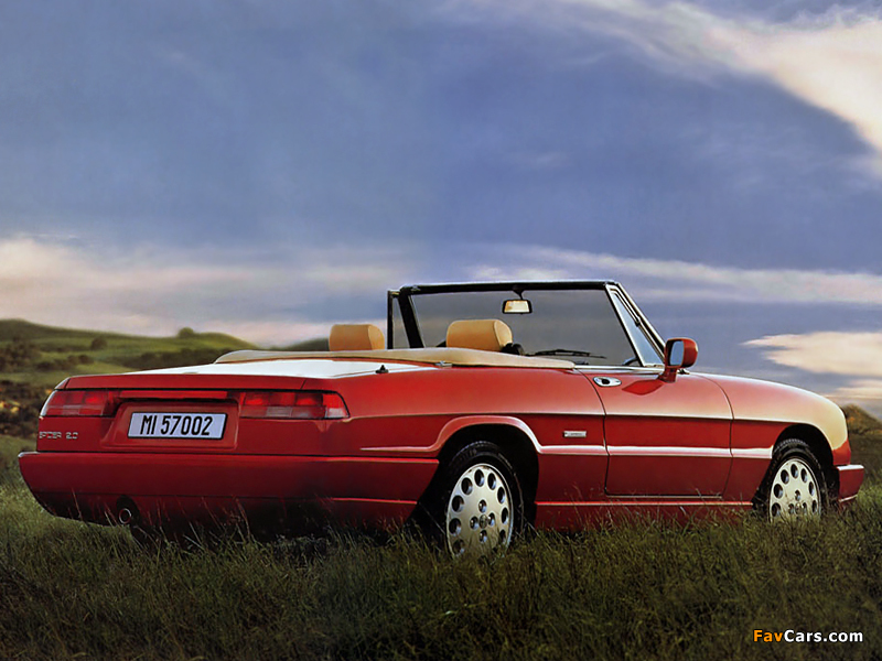 alfa romeo spider 115 1990 1993 wallpapers 800x600. Black Bedroom Furniture Sets. Home Design Ideas