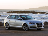 Audi A3 Sportback 2.0T US-spec 8PA (2008–2010) wallpapers