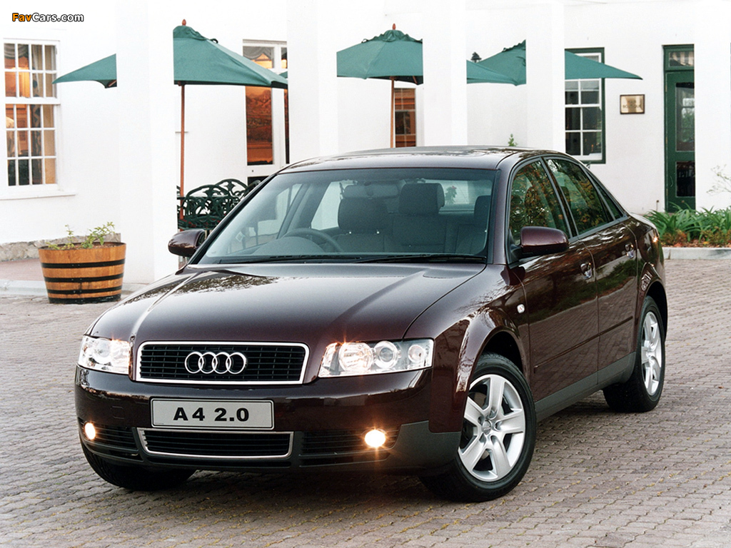 Audi A4 2 0 Sedan Za Spec B6 8e 2000 2004 Images 1024x768