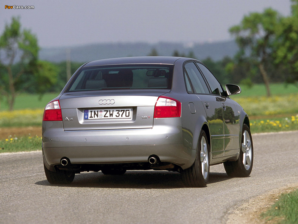 Pictures Of Audi A4 1 8t Sedan B6 8e 2000 2004 1024x768