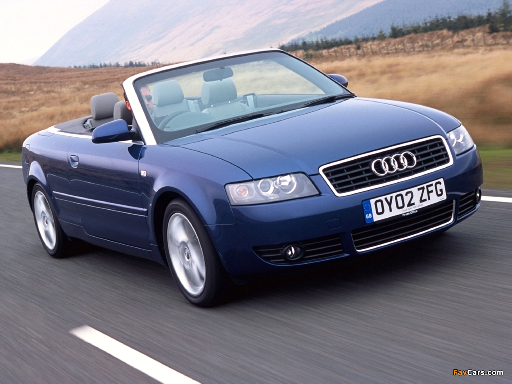 Wallpapers Of Audi A4 2 4 Cabrio Uk Spec B6 8h 2001 2005