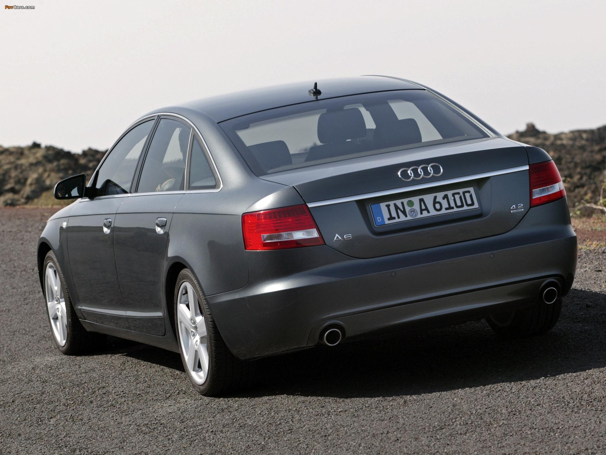 Audi A6 4.2 quattro S-Line Sedan (4F,C6) 2005–08 images (2048 x 1536 ...