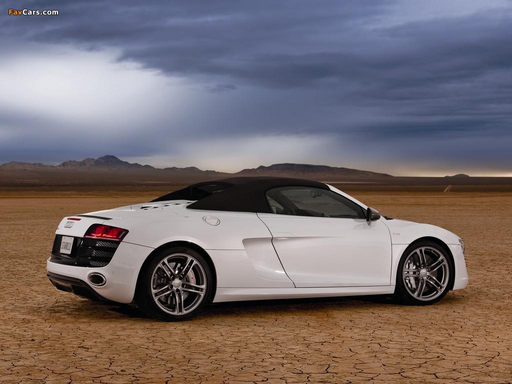 Pictures Of Audi R8 V10 Spyder Us Spec 2010 1024x768