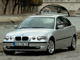 BMW 320td Compact (E46) 2001–05 wallpapers