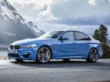 BMW M3 UK-spec (F80) 2014 pictures