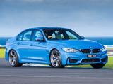 Photos of BMW M3 AU-spec (F80) 2014
