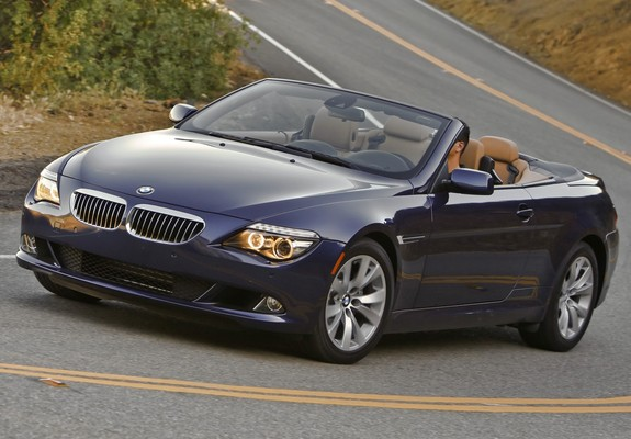 bmw 650i cabrio us spec e64 2008 11 wallpapers. Black Bedroom Furniture Sets. Home Design Ideas