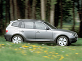 BMW X3 2.0d (E83) 2004–06 wallpapers
