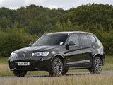 Photos of BMW X3 xDrive35d M Sport Package UK-spec (F25) 2014