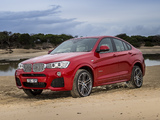 Photos of BMW X4 xDrive35i M Sports Package AU-spec (F26) 2014