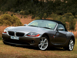 Photos of BMW Z4 2.5i Roadster AU-spec (E85) 2002–05