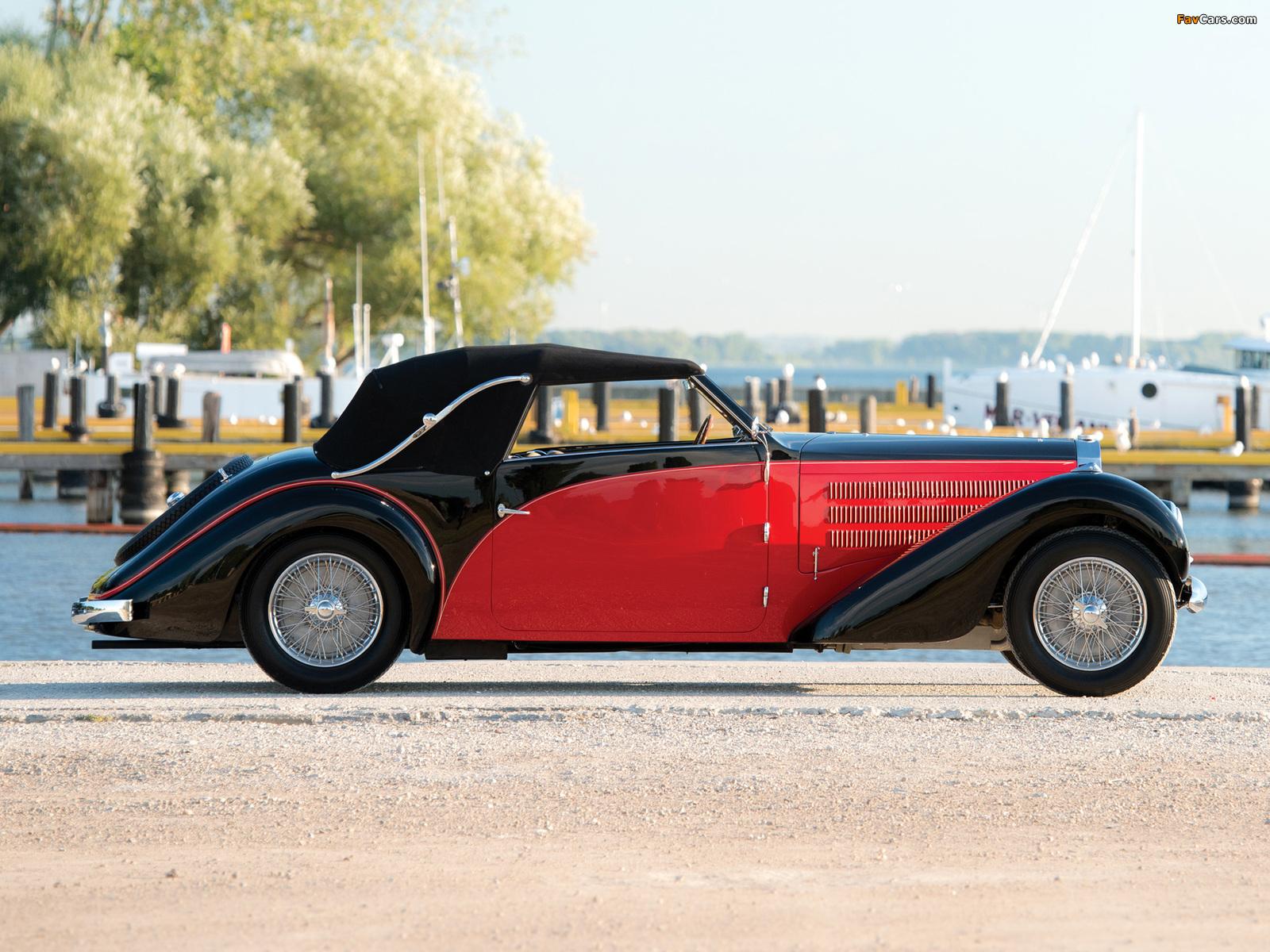 Bugatti Type 57 Stelvio Cabriolet by Gangloff (№57569) 1938 pictures ...