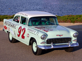 Photos of Chevrolet 150 Turbo Fire 195 HP 2-door Sedan Race Car (1502-1211) 1955