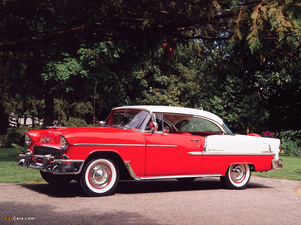 Chevrolet bel air sport coupe 2454 1037d 1955 wallpapers 1024x768 - 1955 chevrolet belair sport coupe ...