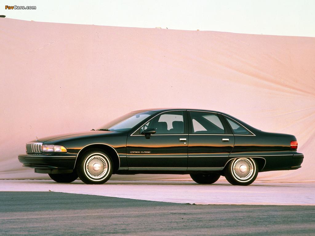 Photos of Chevrolet Caprice Classic 1991–93 1024 x 768