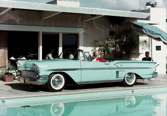 Wallpapers of Chevrolet Bel Air Impala Convertible (F1867) 1958