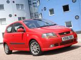 Chevrolet Kalos Sport UK-spec (T200) 2003–08 wallpapers