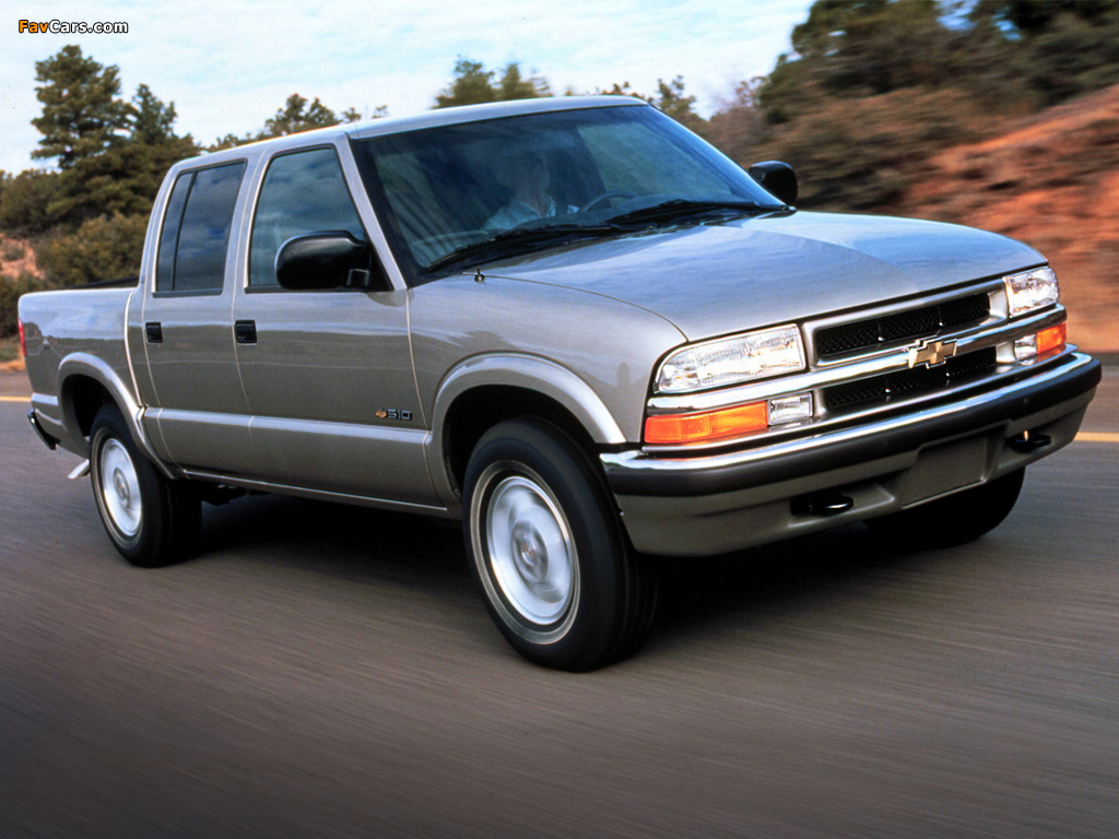 pictures of chevrolet s 10 crew cab 2001 04 1024x768. Black Bedroom Furniture Sets. Home Design Ideas