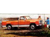 Images of Dodge D100 Conventional Cab Adventurer Sport Package 1976