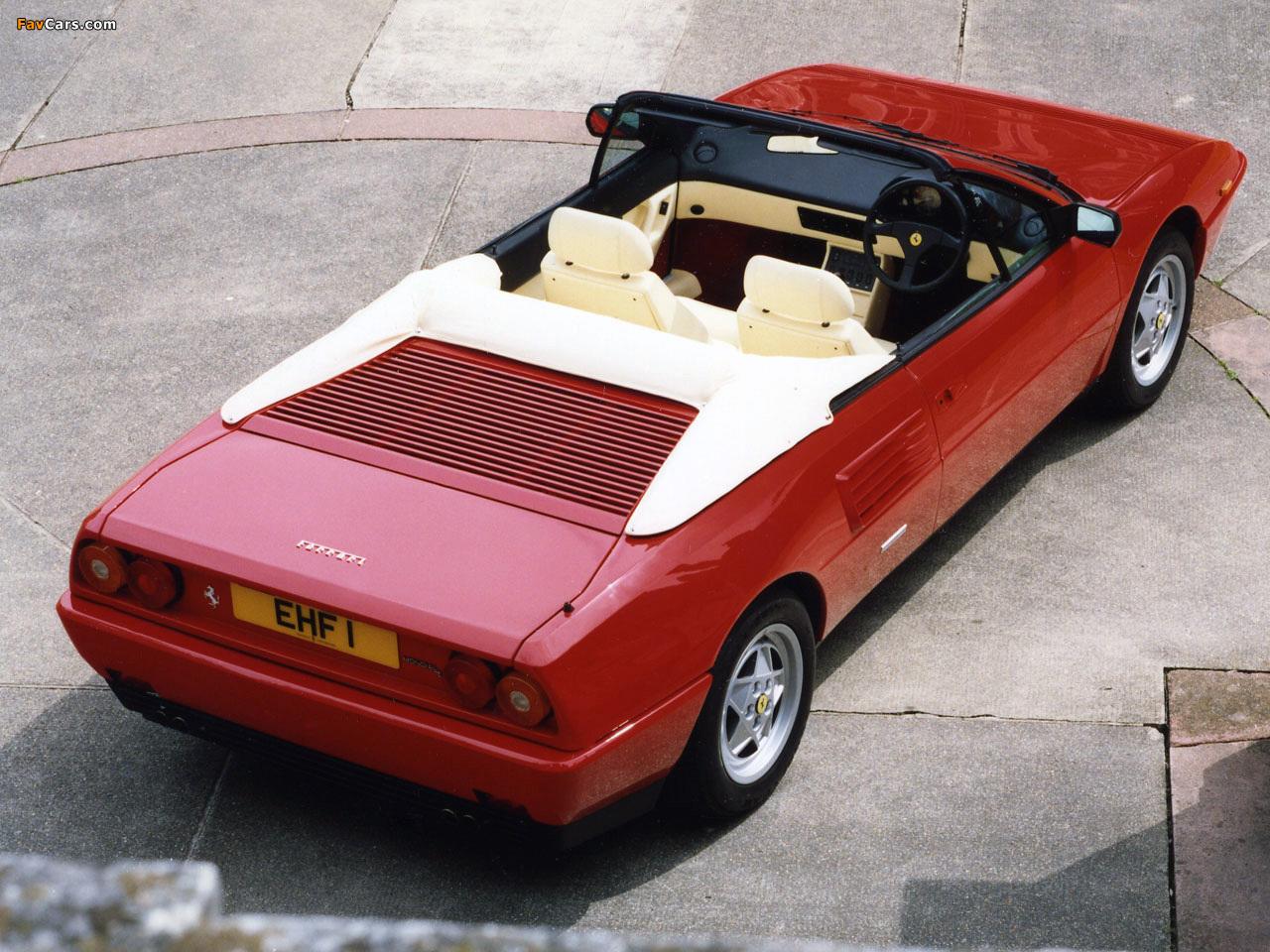 photos of ferrari mondial t cabriolet uk spec 1989 93 1280x960. Black Bedroom Furniture Sets. Home Design Ideas