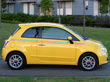 Images of Fiat 500 Sport AU-spec 2008–12