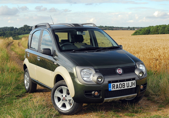 fiat panda 4x4 cross uk spec 169 2008 10 photos. Black Bedroom Furniture Sets. Home Design Ideas