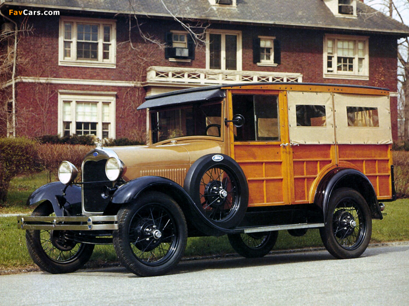 Ford Model A Woody Station Wagon (150A) 1929 photos (800 x 600)
