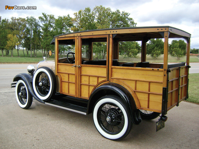 Images of Ford Model A Woody Station Wagon (150A) 1929 (640 x 480)