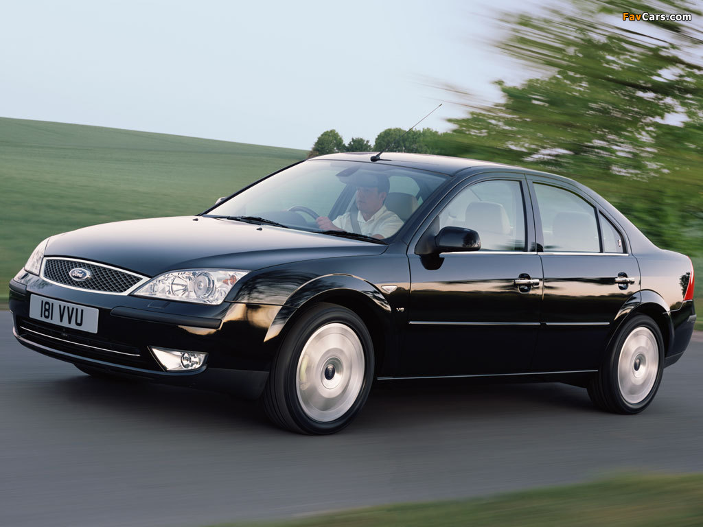 pictures of ford mondeo sedan uk spec 2004 07 1024x768. Black Bedroom Furniture Sets. Home Design Ideas
