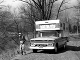 GMC 1000 Wolverine Camper Pickup Truck 1966 wallpapers