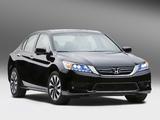 Photos of Honda Accord Hybrid US-spec 2013