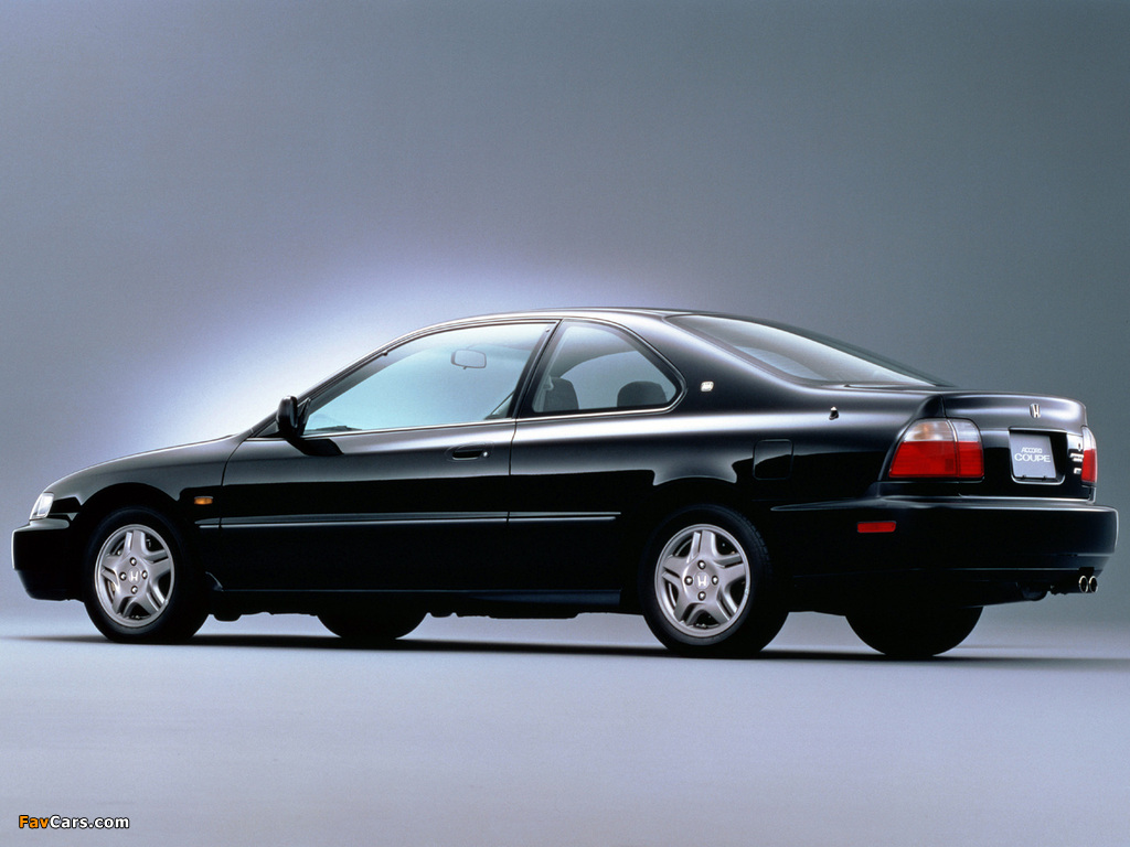 98 Honda Accord >> Wallpapers of Honda Accord SiR Coupe (CD8) 1996–98 (1024x768)