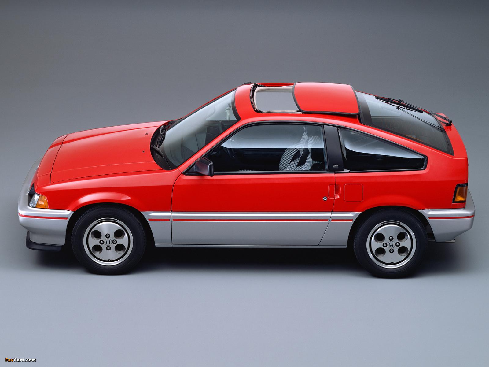 Honda Cr X >> Honda Ballade Sports CR-X 1983–87 pictures (1600x1200)
