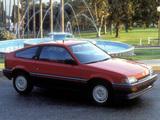Pictures of Honda Civic CRX 1986–87