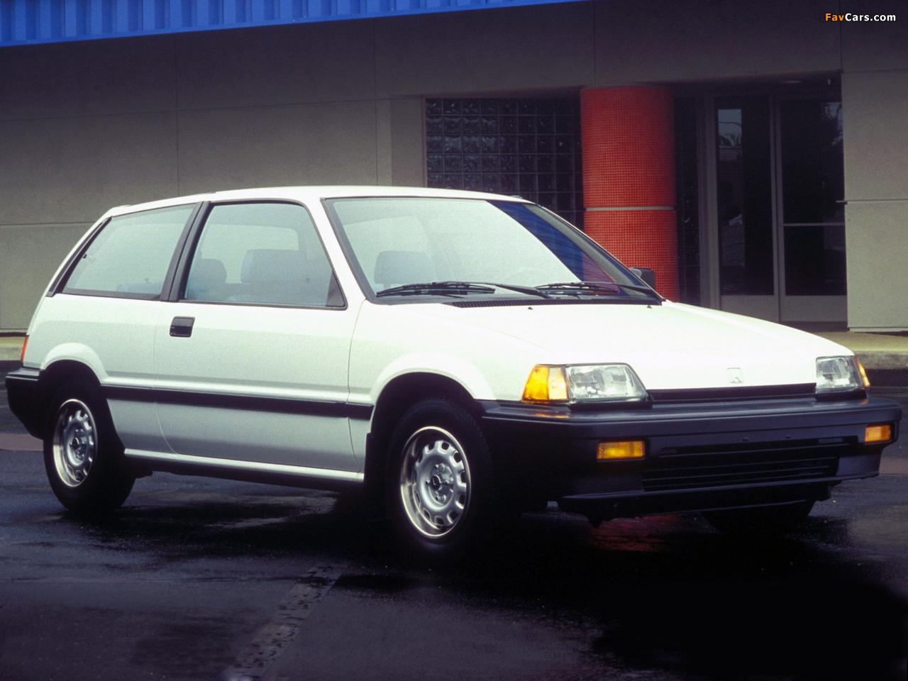 honda civic hatchback usspec 1983�87 photos 1280x960
