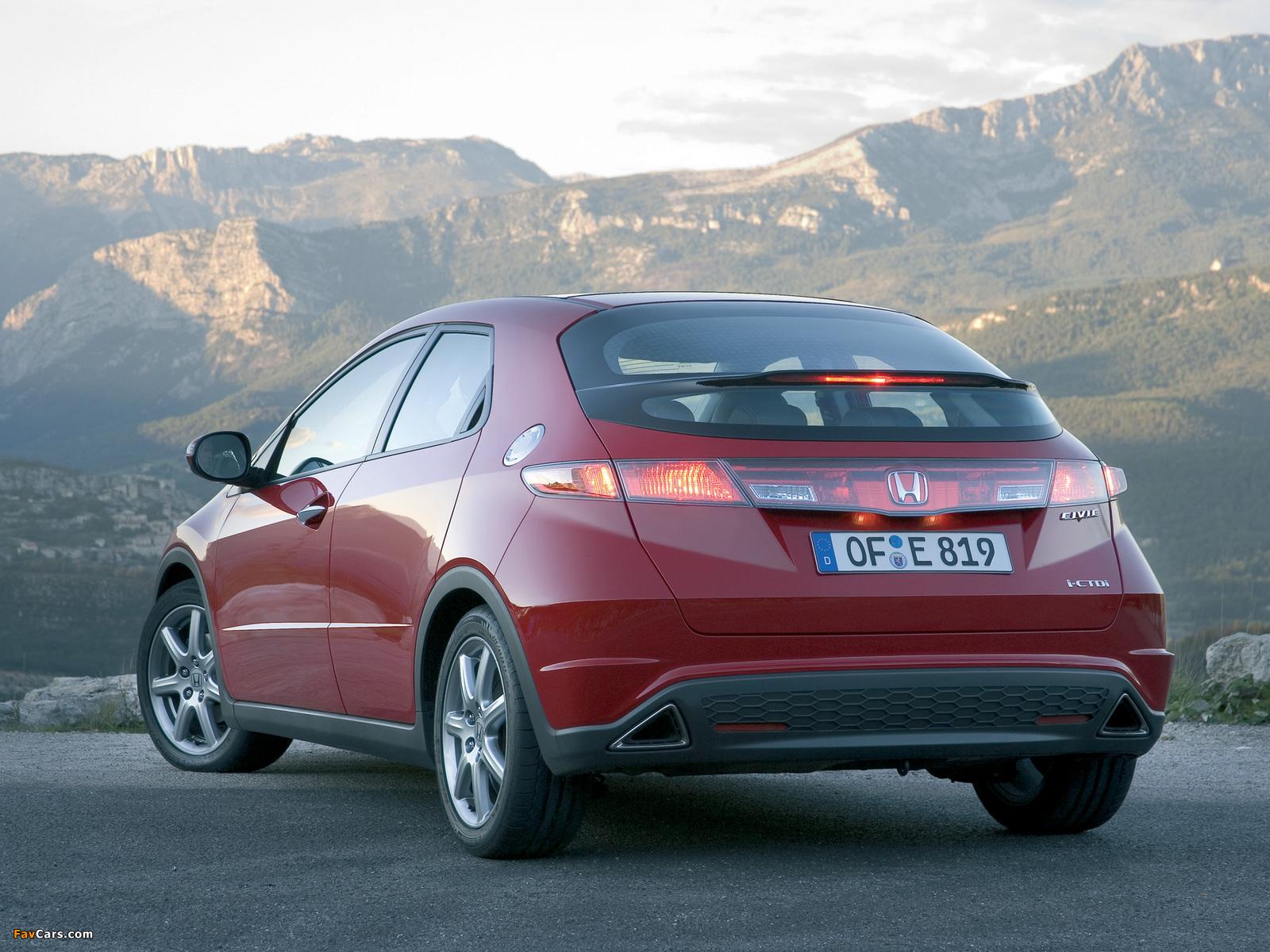 Images of honda civic hatchback fn 2006 08 1600x1200 for Honda civic 2006 hatchback