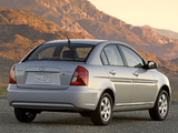 Photos of Hyundai Accent Sedan US-spec 2006–11