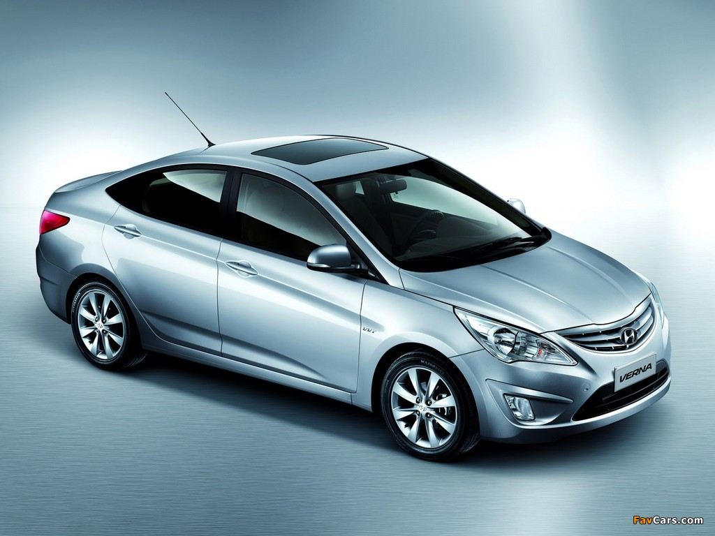 Wallpapers Of Hyundai Verna (RB) 2010 (1024x768