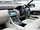 Range Rover Evoque Prestige AU-spec 2011 pictures
