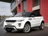 Range Rover Evoque Coupe Dynamic AU-spec 2011 pictures