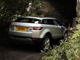 Range Rover Evoque Coupe Si4 Prestige UK-spec 2011 wallpapers