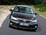 Lexus CT 200h UK-spec 2010–14 images