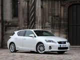 Lexus CT 200h UK-spec 2010–14 pictures