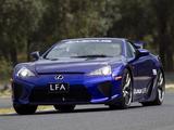 Photos of Lexus LFA AU-spec 2011–12
