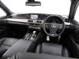 Lexus LS 600h F-Sport AU-spec 2013 pictures