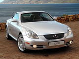Lexus SC 430 ZA-spec 2008–10 photos